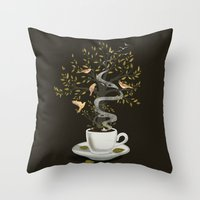 A Cup of Dreams Throw Pillow