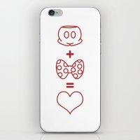 Mickey loves Minnie iPhone & iPod Skin