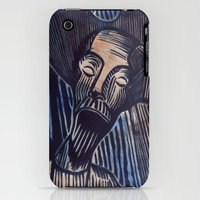iPhone Cases featuring Don Quixote in Blue and Rust by Sheryl Karas