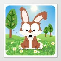Woodland Animals Series … Canvas Print