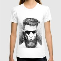Lion Man Womens Fitted Tee White SMALL
