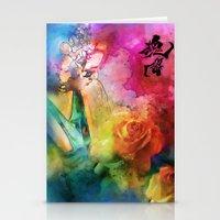 Geisha Rose Stationery Cards