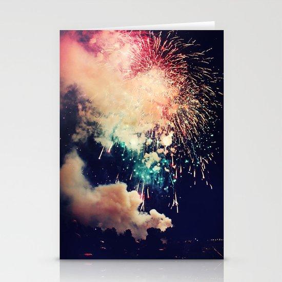 Bursts of light. Stationery Card