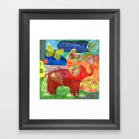 Contemplate with the Heart Framed Art Print