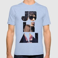 Julian Casablancas The Strokes Font Sunglasses Mens Fitted Tee Tri-Blue SMALL