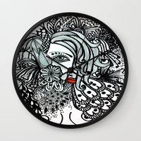 Girl In Bird Wall Clock