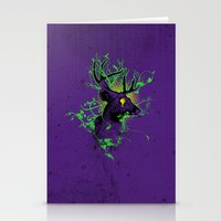 Trippy Ghost Deer Stationery Cards