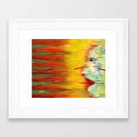 Panic Framed Art Print