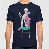 circus skeleton Mens Fitted Tee Navy SMALL