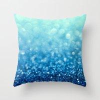 Tell Me True...Ocean Blue Throw Pillow