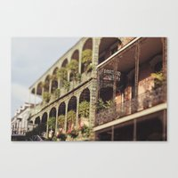 New Orleans Royal Street Balconies Canvas Print