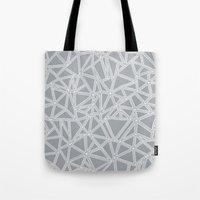 Abstract New Grey Tote Bag
