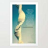 Spiral Sculpt and Quote II Art Print