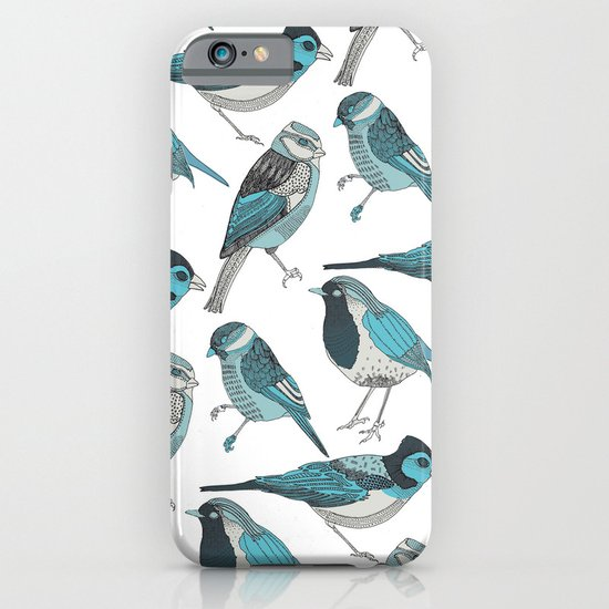 pale green birds iPhone & iPod Case