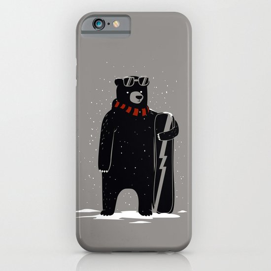 Bear on snowboard iPhone & iPod Case