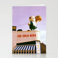 Ice Cold Beer, Coney Island Stationery Cards