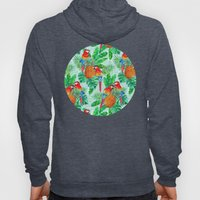 Pineapples and Parrots Tropical Summer Pattern Hoody