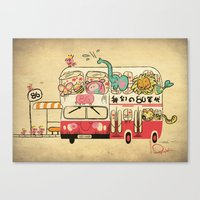 The Childhood Bus Canvas Print