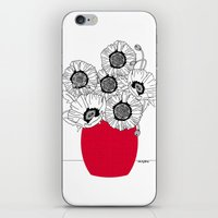 Black And White Poppies … iPhone & iPod Skin