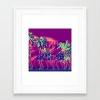 Горячая линия Framed Art Print