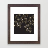 Dark Blossoms Framed Art Print