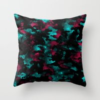 Galactic Camo Throw Pillow