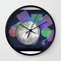 send me the moon Wall Clock