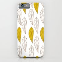 iPhone & iPod Case featuring Golden Feather by fable design
