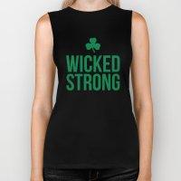 Wicked Strong Green Biker Tank