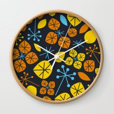 Leaf Scatters Wall Clock