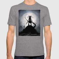 Skyrim Kid Mens Fitted Tee Tri-Grey SMALL