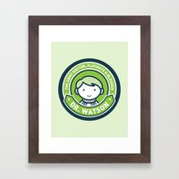 Cute John Watson - Green Framed Art Print