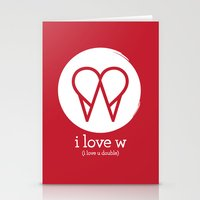 I Love W Stationery Cards