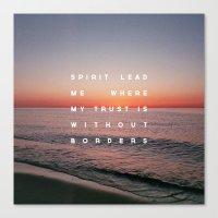 Canvas Prints featuring Spirit Lead Me by Zeke Tucker