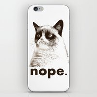 GRUMPY CAT - Nope (versi… iPhone & iPod Skin