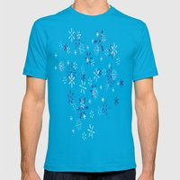 Blue And White Holiday S… Mens Fitted Tee Teal SMALL