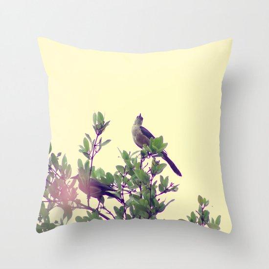 Maria Mulata Bird I Throw Pillow