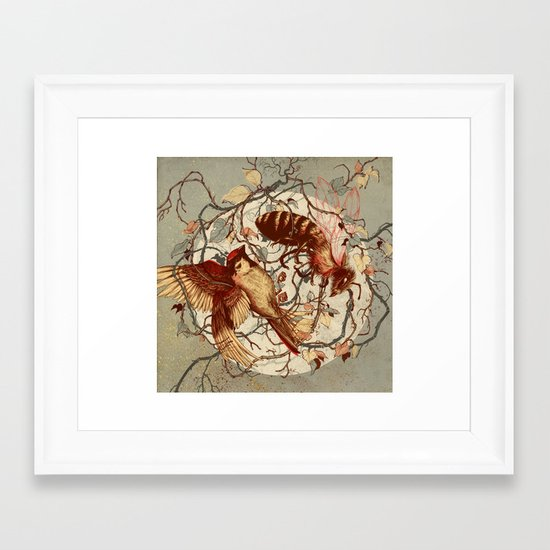 Honey & Sorrow (grey) Framed Art Print