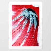 Acrylic Abstract on Canvas 4 Art Print