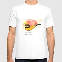 This Is Not A Comic Pipe Mens Fitted Tee White SMALL
