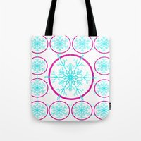 Dream-catching a Snowflake Tote Bag