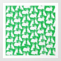How Many Rabbits are in the picture?  Art Print