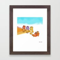 Care Bear Ahhhhh Framed Art Print