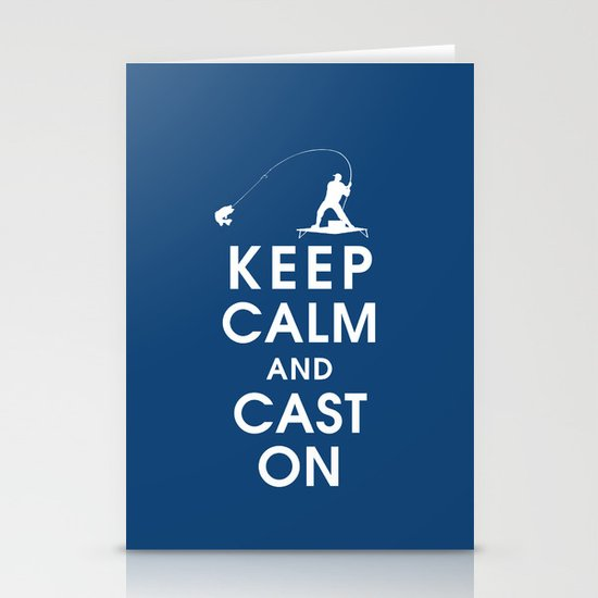 Keep Calm and Cast On Stationery Card
