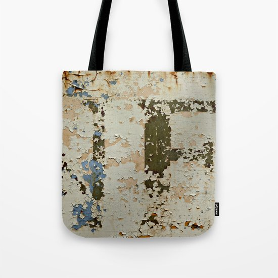IF a Picture Paints -- Peeling Paint and Rust Texture Abstract Tote Bag