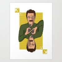 Walter White King of Hearts Art Print