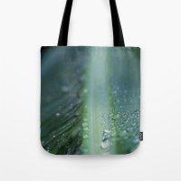 banana leaf rain drops hawaii Tote Bag