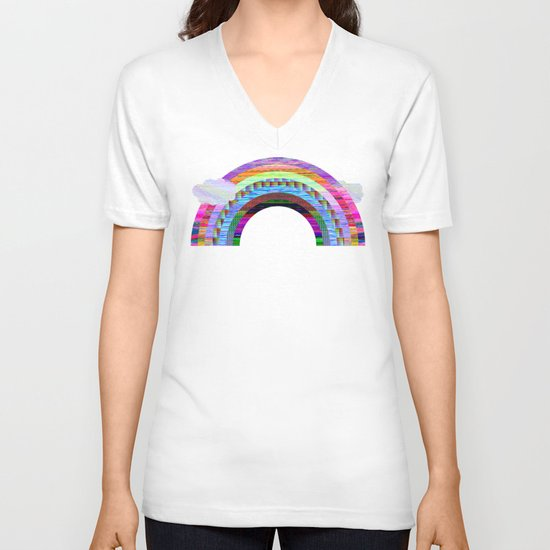 glitchbow V-neck T-shirt