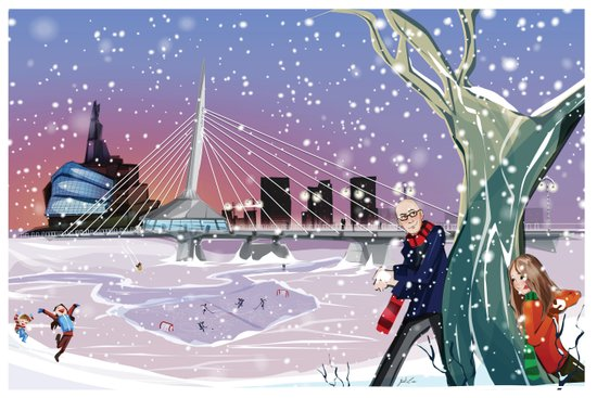 Winter Winnipeg Art Print