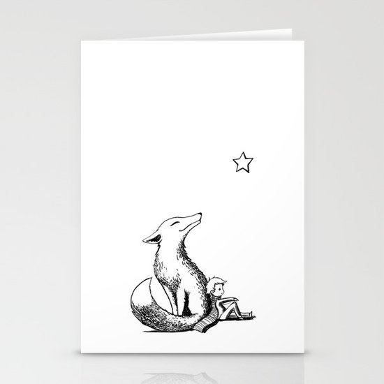 Prince and the Fox Stationery Card